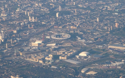 London Olympic Park from the air