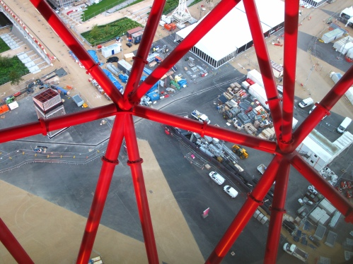 Looking down on the Olympic Park from the Orbit